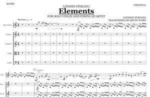 String Quartet+Vln Solo - Elements w/ KARAOKE Play-Along Track - Sheet Music