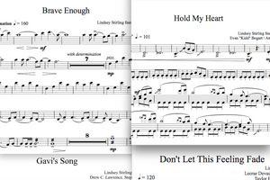 VIOLA Brave Enough Album - Sheet Music Package