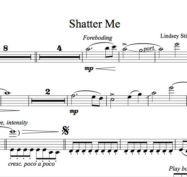 Shatter Me Album - Sheet Music Package