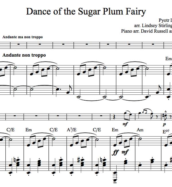 Dance of the Sugar Plum Fairy w/KARAOKE Play-Along tracks - Sheet Music