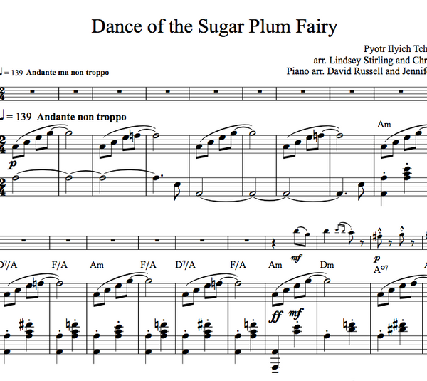 VIOLA Dance of the Sugar Plum Fairy w/ KARAOKE Play-Along Tracks - Sheet Music