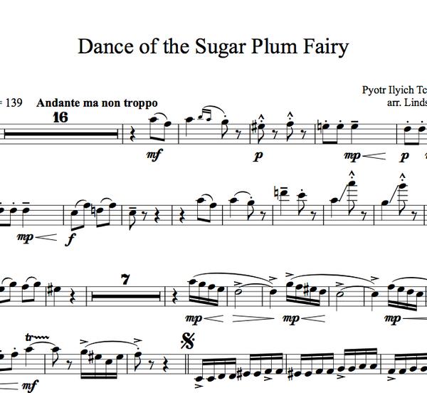 CELLO - Dance of the Sugar Plum Fairy w/ KARAOKE Play-Along Tracks - Sheet Music