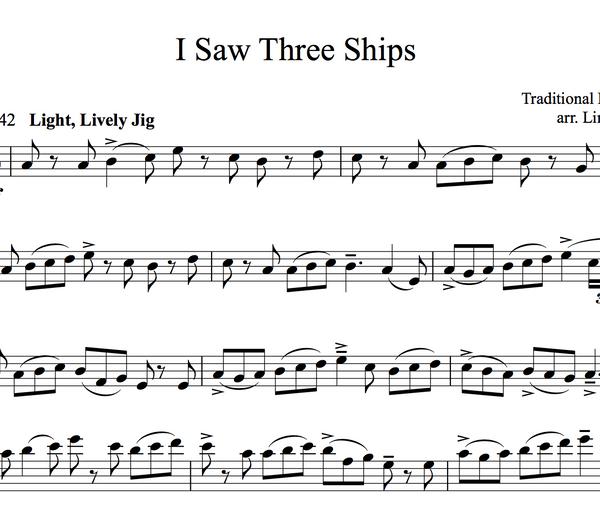 CELLO - I Saw Three Ships w/ KARAOKE Play-Along Tracks - Sheet Music