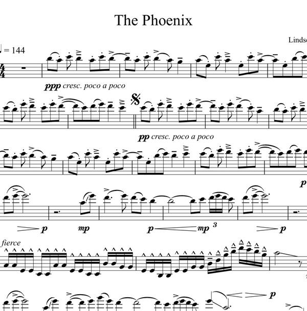 CELLO - The Phoenix w/ KARAOKE Play-Along Tracks - Sheet Music