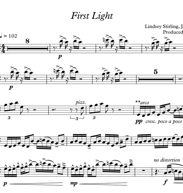 VIOLA First Light w/ KARAOKE Play-Along Tracks - Sheet Music