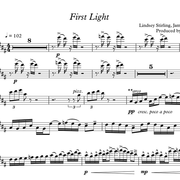 CELLO - First Light w/ KARAOKE Play-Along Tracks - Sheet Music