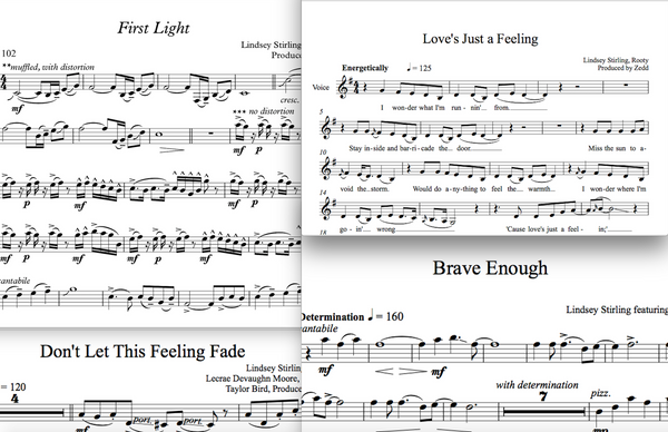Brave Enough Album - Sheet Music Package