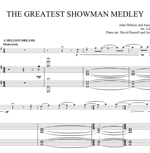 The Greatest Showman Medley Violin Solo with Piano Accompaniment
