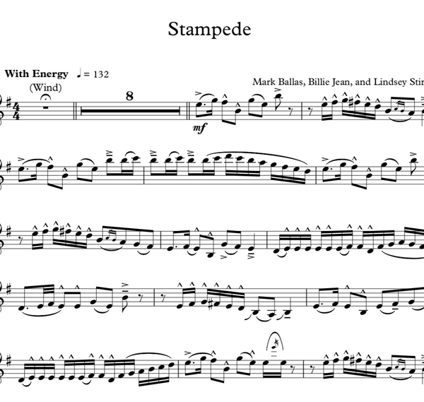 Stampede Violin Solo with Piano Accompaniment