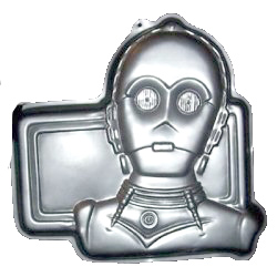 star wars c3p0 cake pan