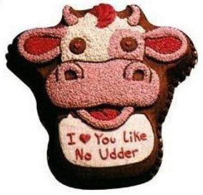 wilton cuddles the cow cake pan