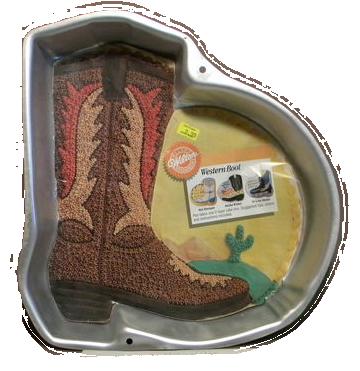 cowboy boot cake pan