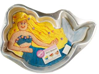 Mermaid cake pan