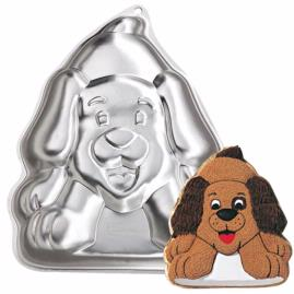 playful puppy cake pan
