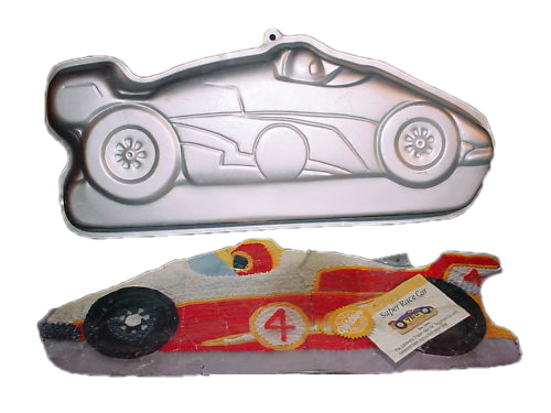 super race car cake pan