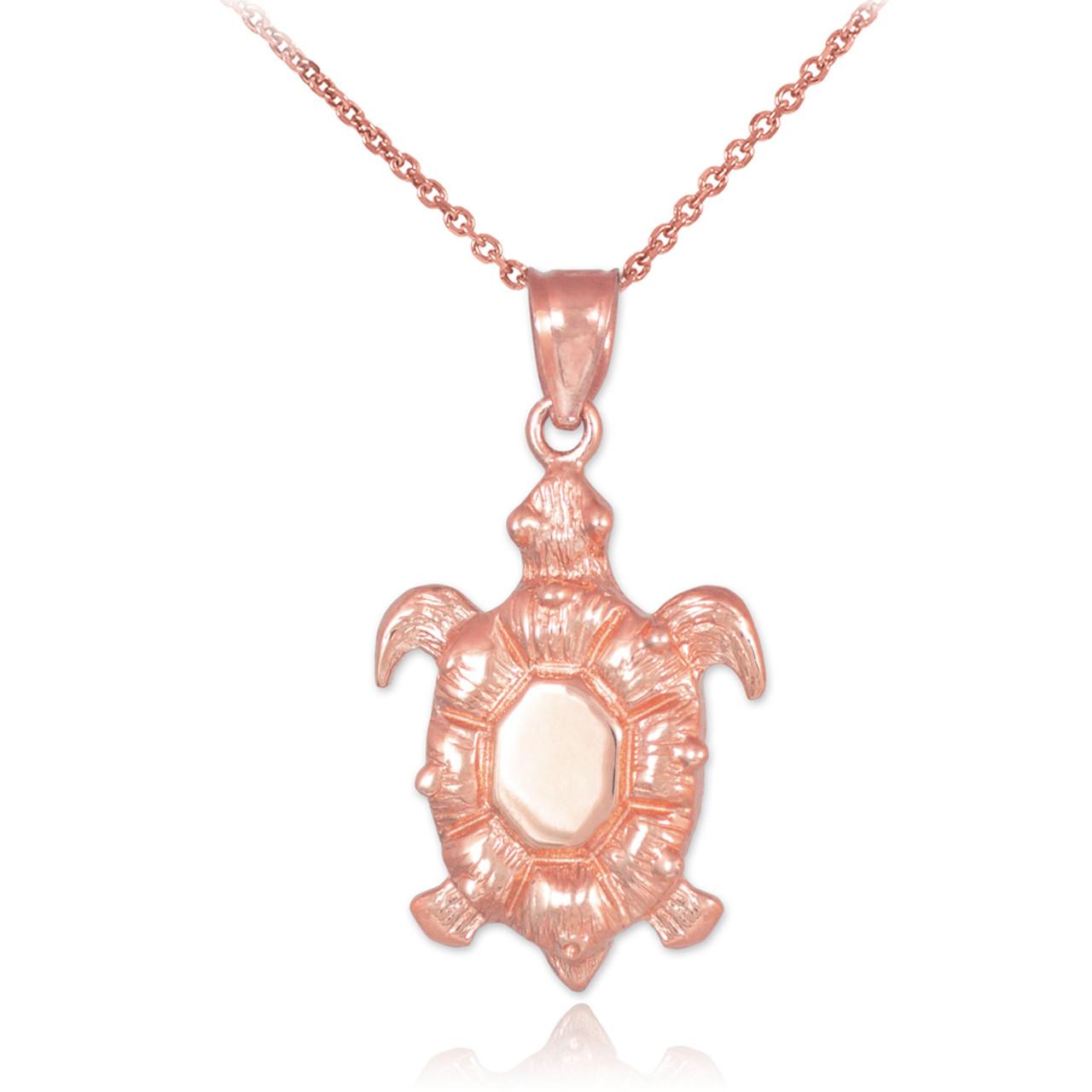 Rose gold sea turtle pendant rose gold sea turtle pendant necklace mozeypictures Images