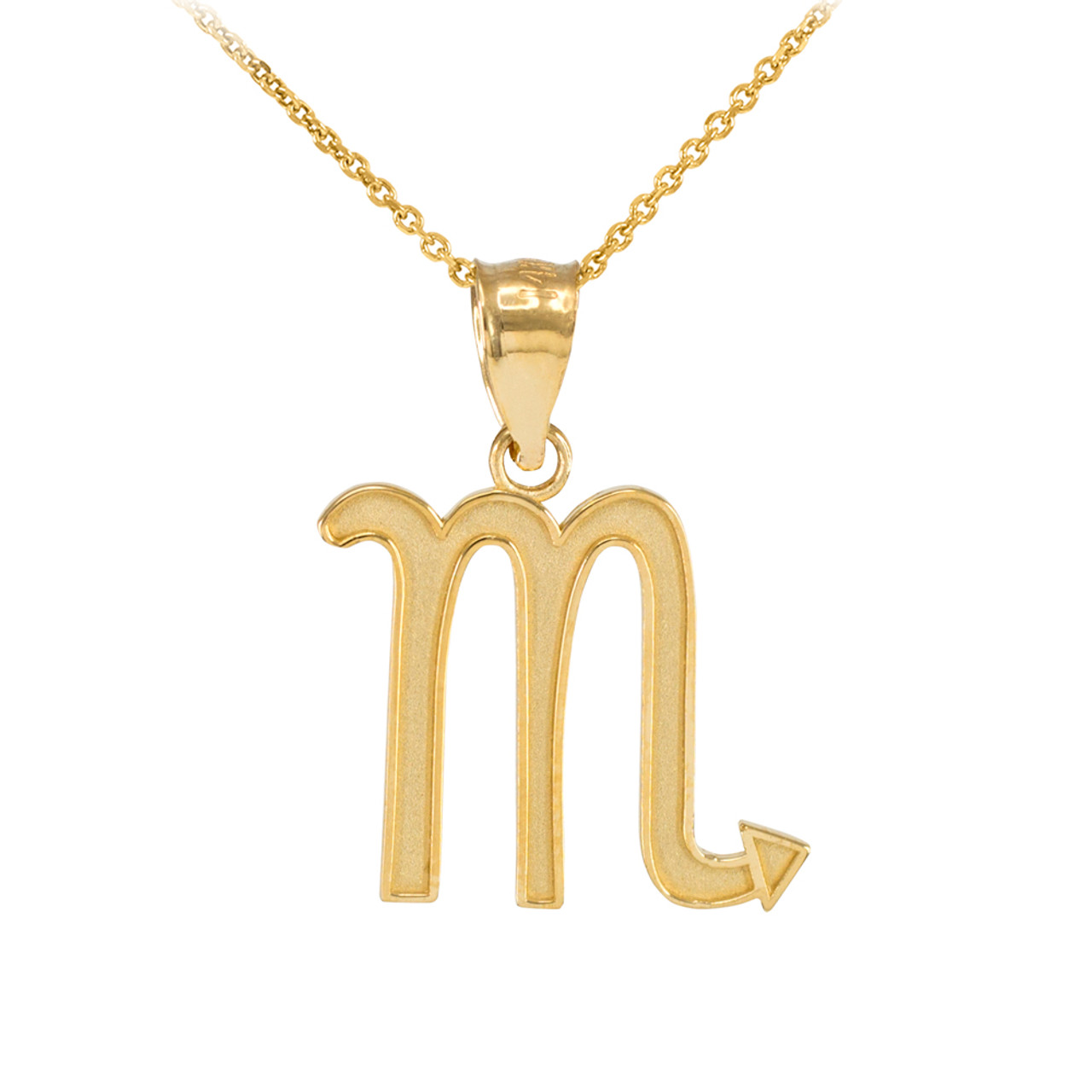 necklace stilnest zodiac us sign scorpio by designer pendant anna saccone sn en