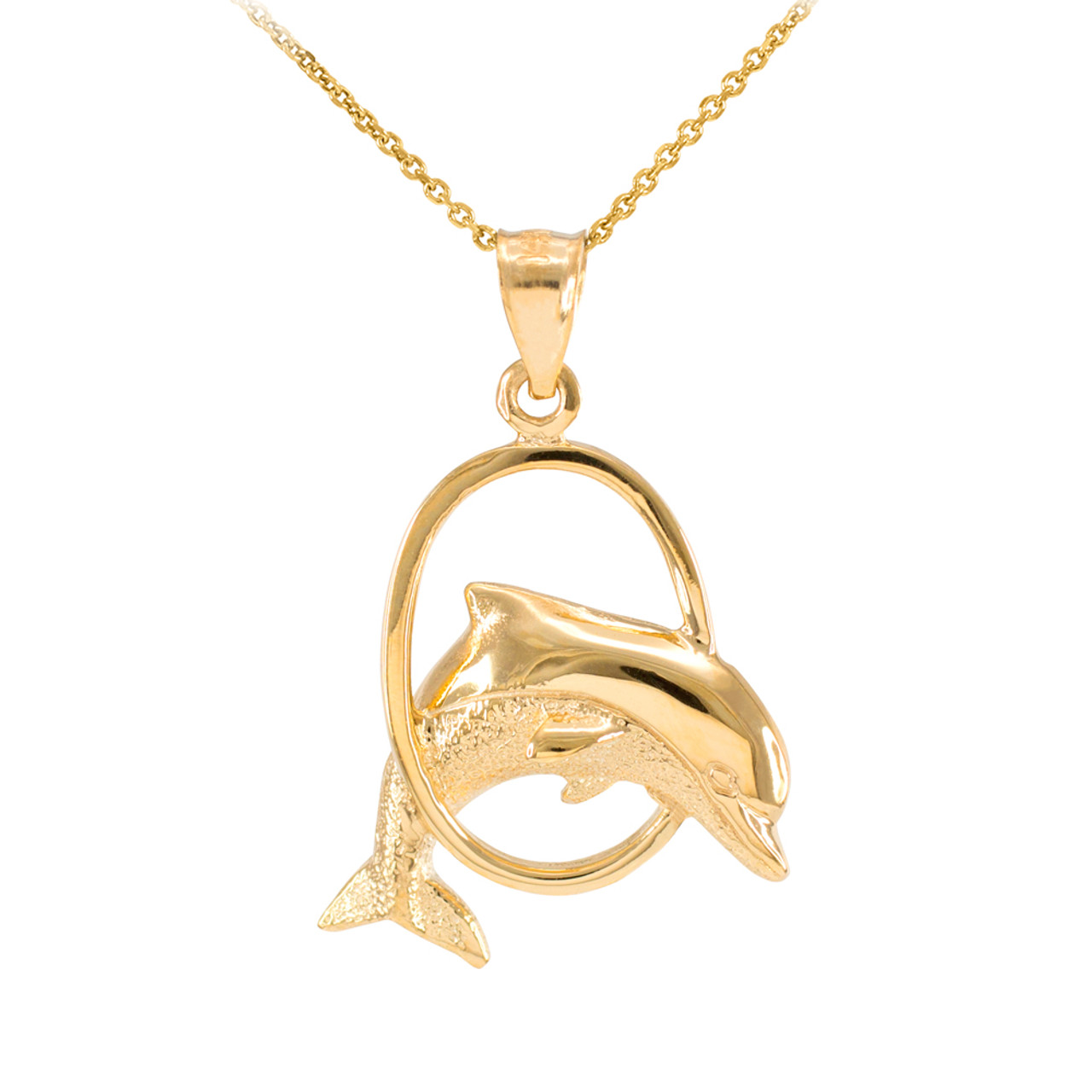 necklace jumping dolphin crystal pendant products wikiwii