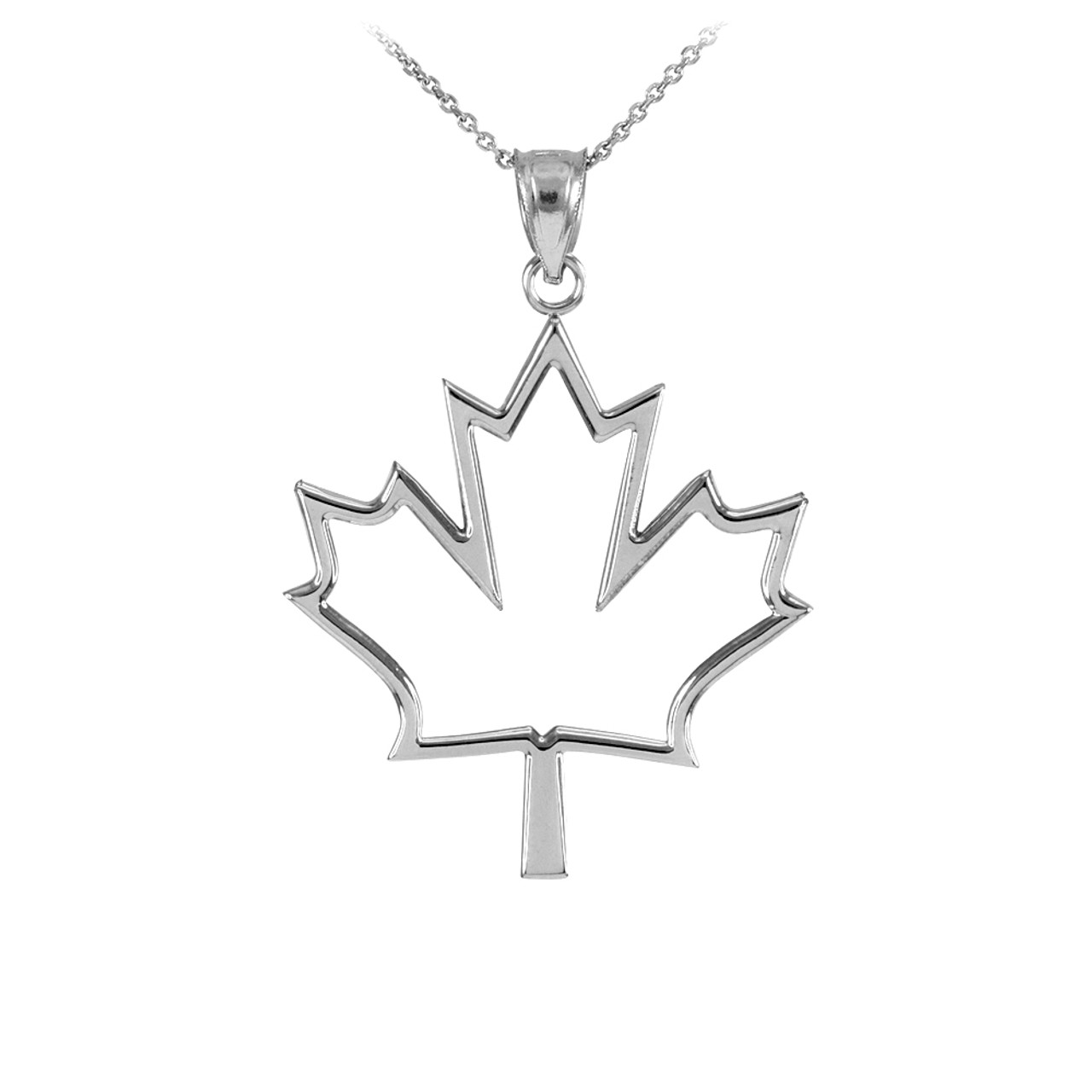 925 sterling silver open design maple leaf charm pendant necklace silver open design maple leaf charm pendant necklace aloadofball Gallery