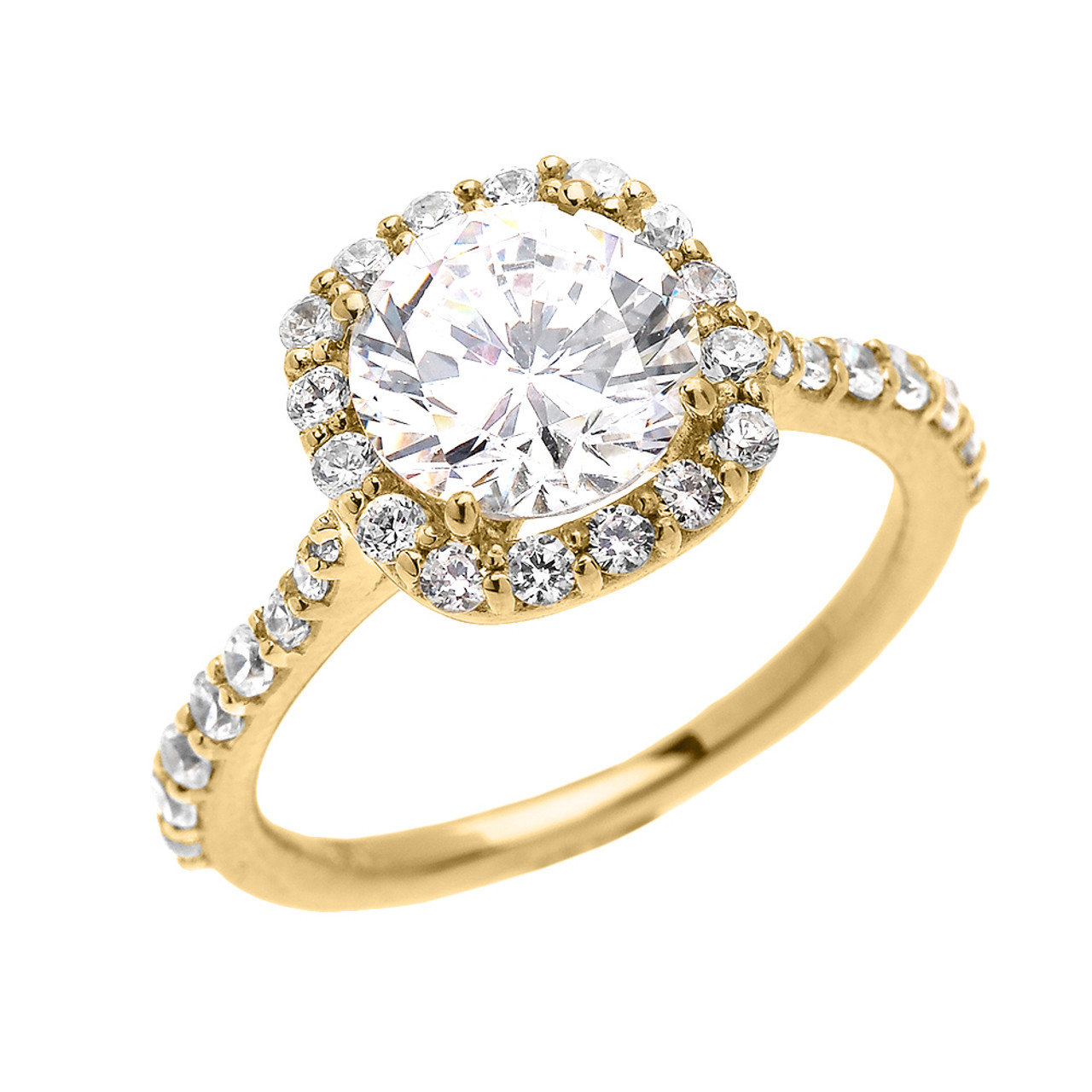 beautiful engagement ring dainty 3 carat halo cz ring in. Black Bedroom Furniture Sets. Home Design Ideas