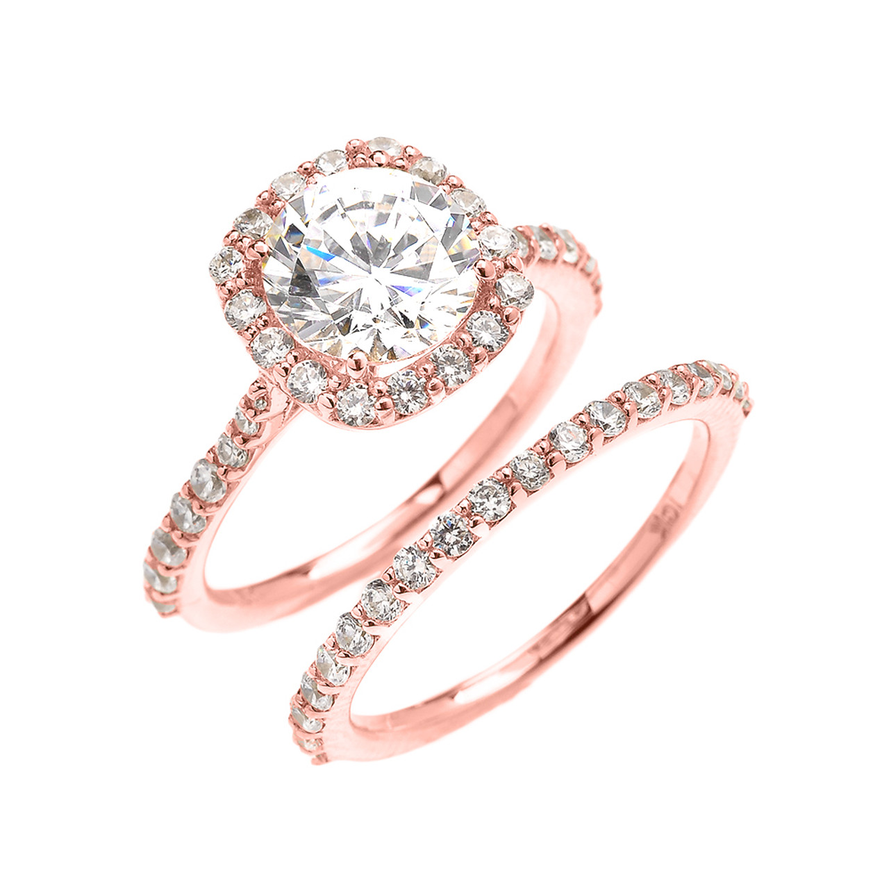 Beautiful Engagement Ring - Dainty 3 Carat Halo CZ Ring ...