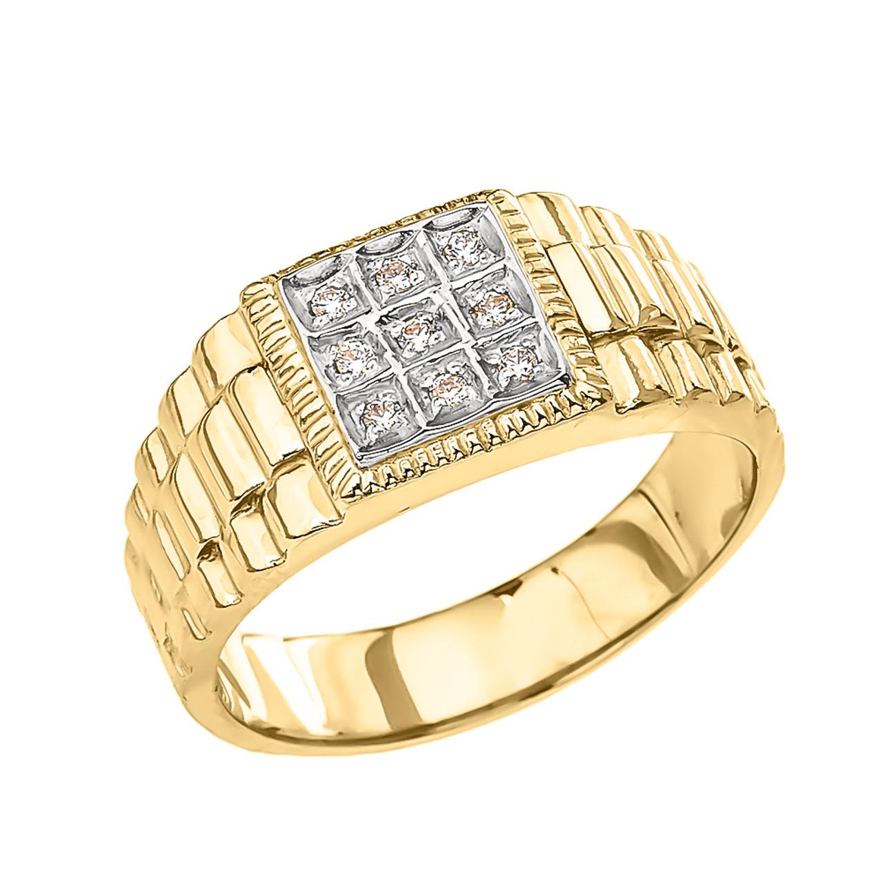yellow diamond watch band design men 39 s ring. Black Bedroom Furniture Sets. Home Design Ideas