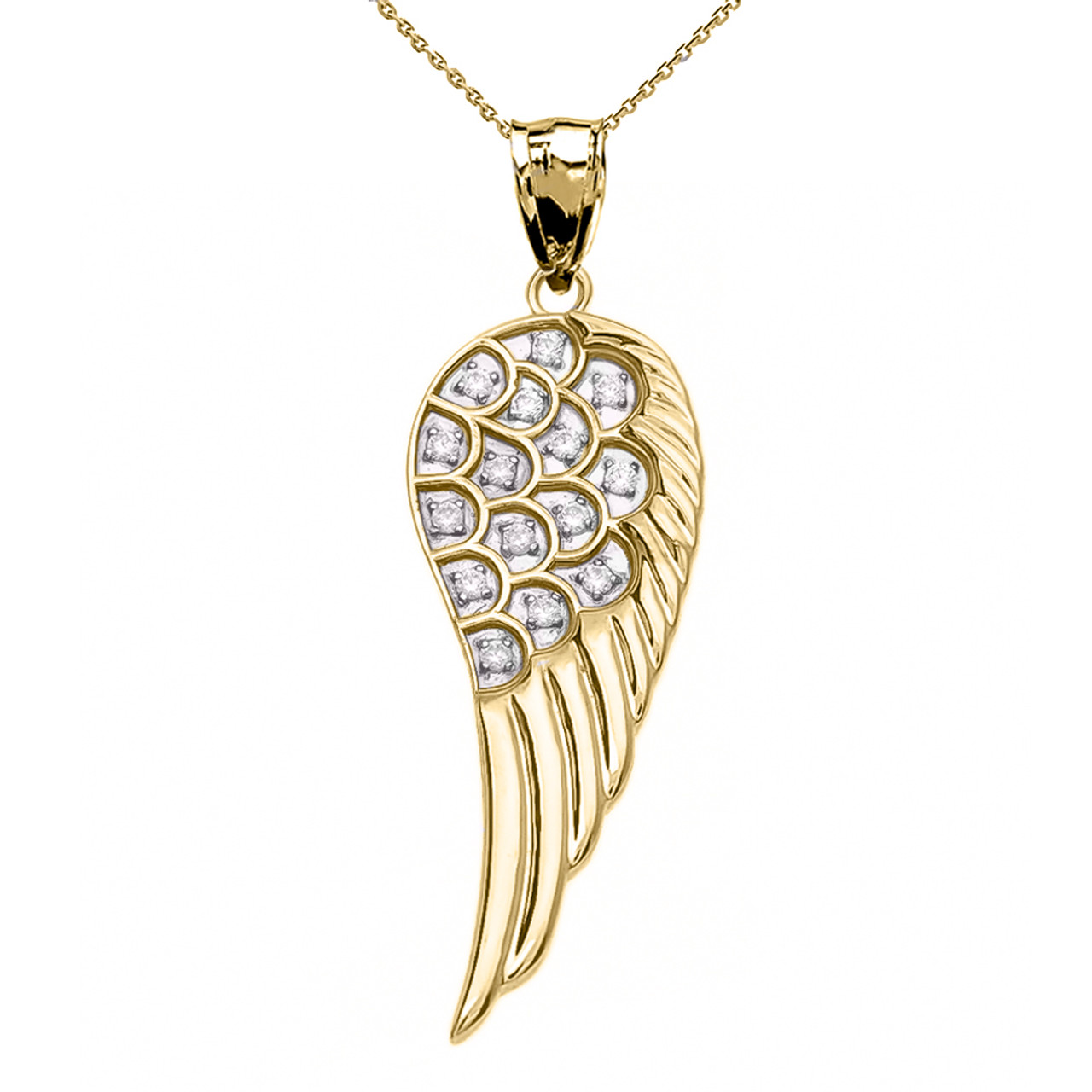 rhodium wings negozio stones or luxanty collana gold en argento d with rose silver white plated in angel necklace con pendant bianco pietre wire ali wing zircons zirconi filo