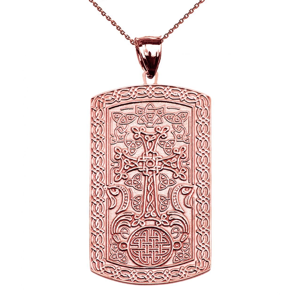 Armenian cross khachkar rose gold engraveable dog tag pendant armenian cross khachkar rose gold engraveable dog tag pendant necklace mozeypictures Gallery
