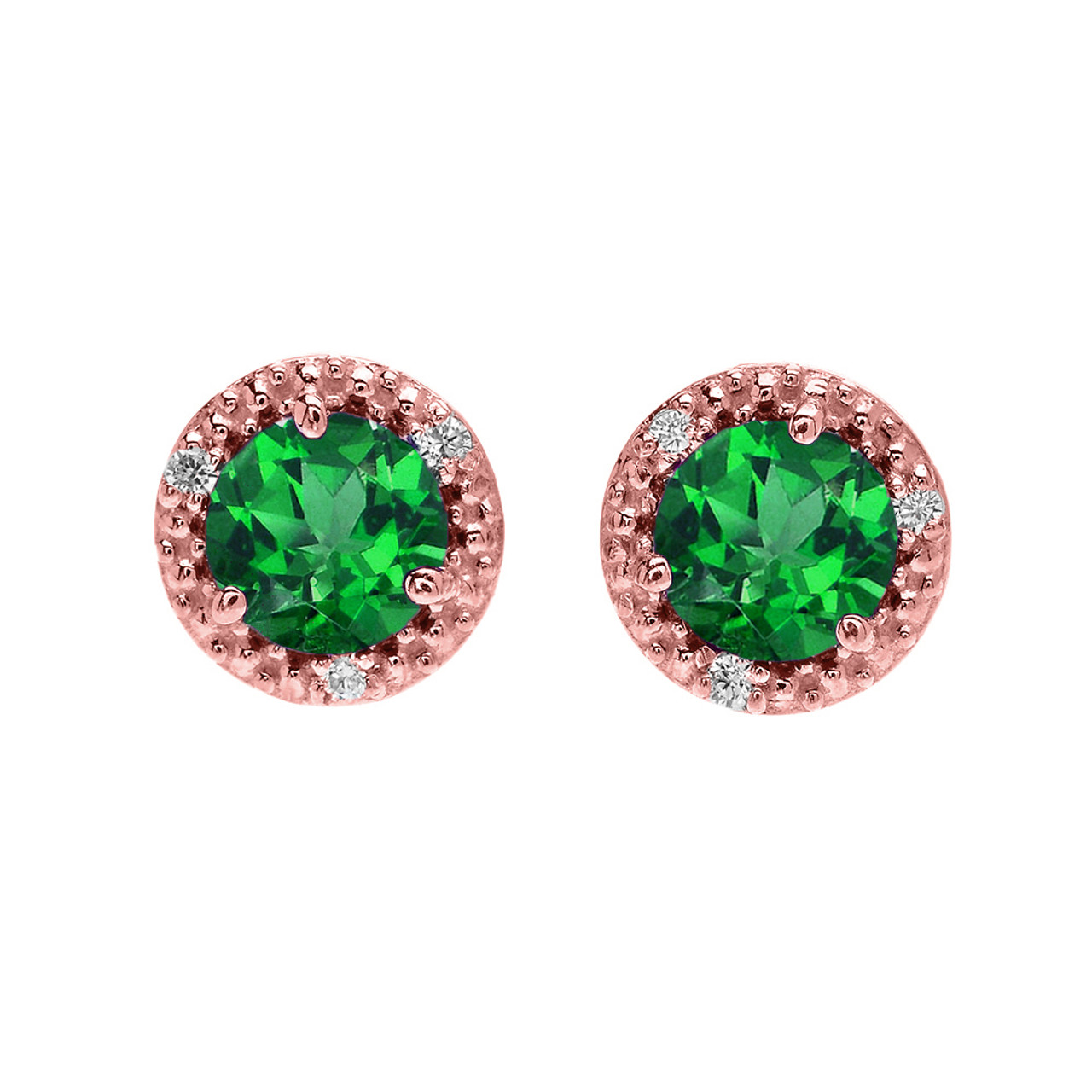 jewellers emerald earrings qp white drop diamond gold and in