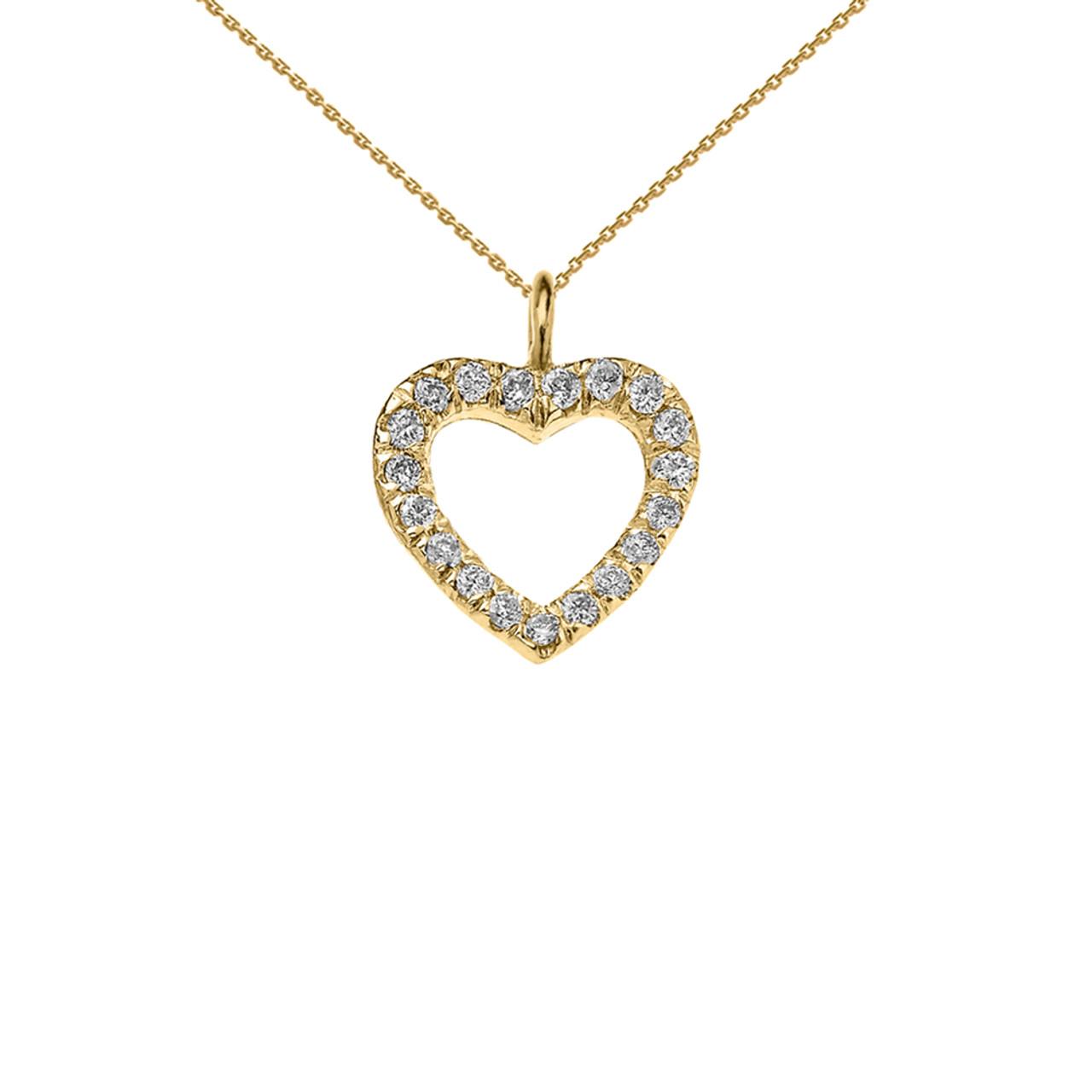 reversible diamond and high polish plain open heart yellow. Black Bedroom Furniture Sets. Home Design Ideas