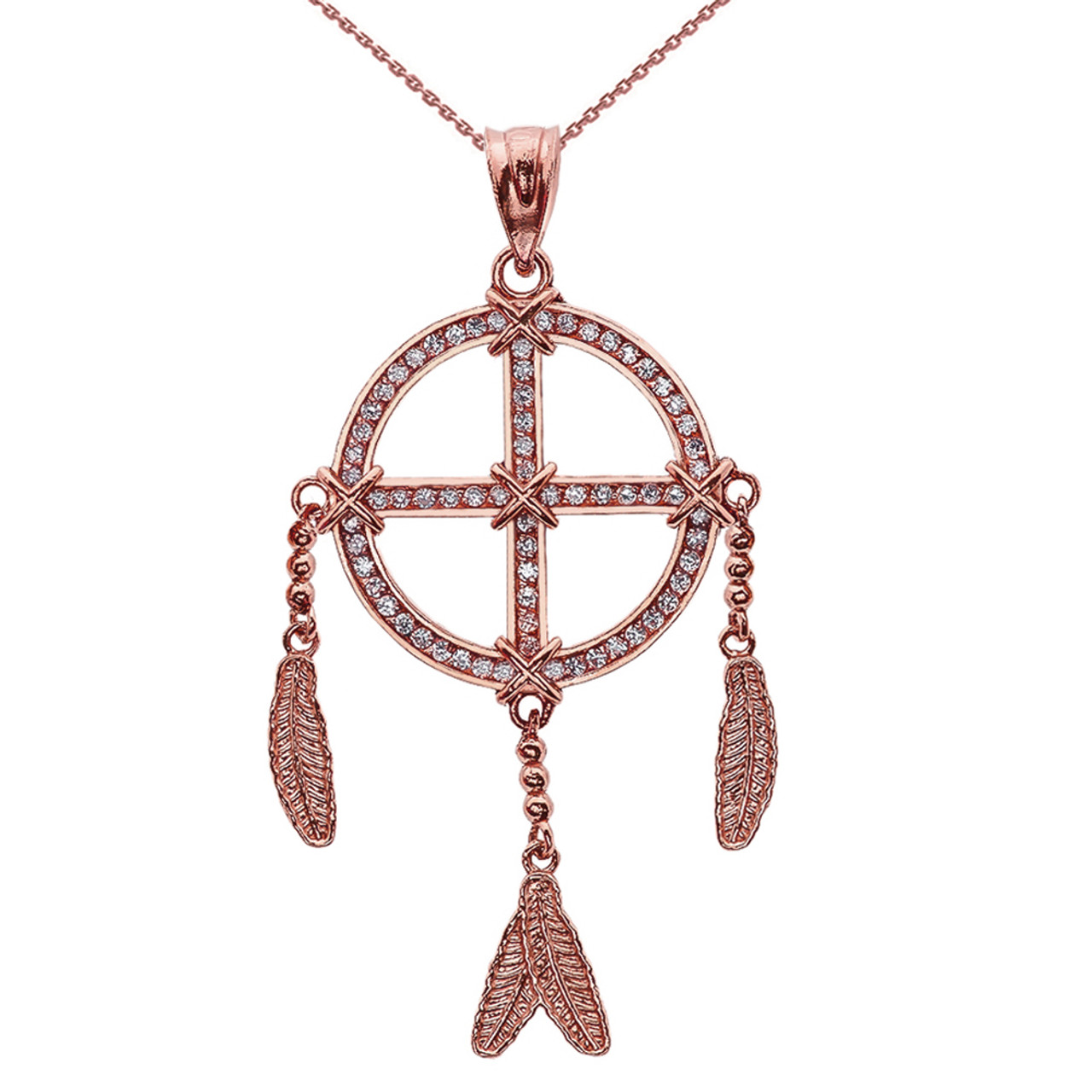 cultures rose gold pendant copy necklace dream catcher and countries chainr diamond
