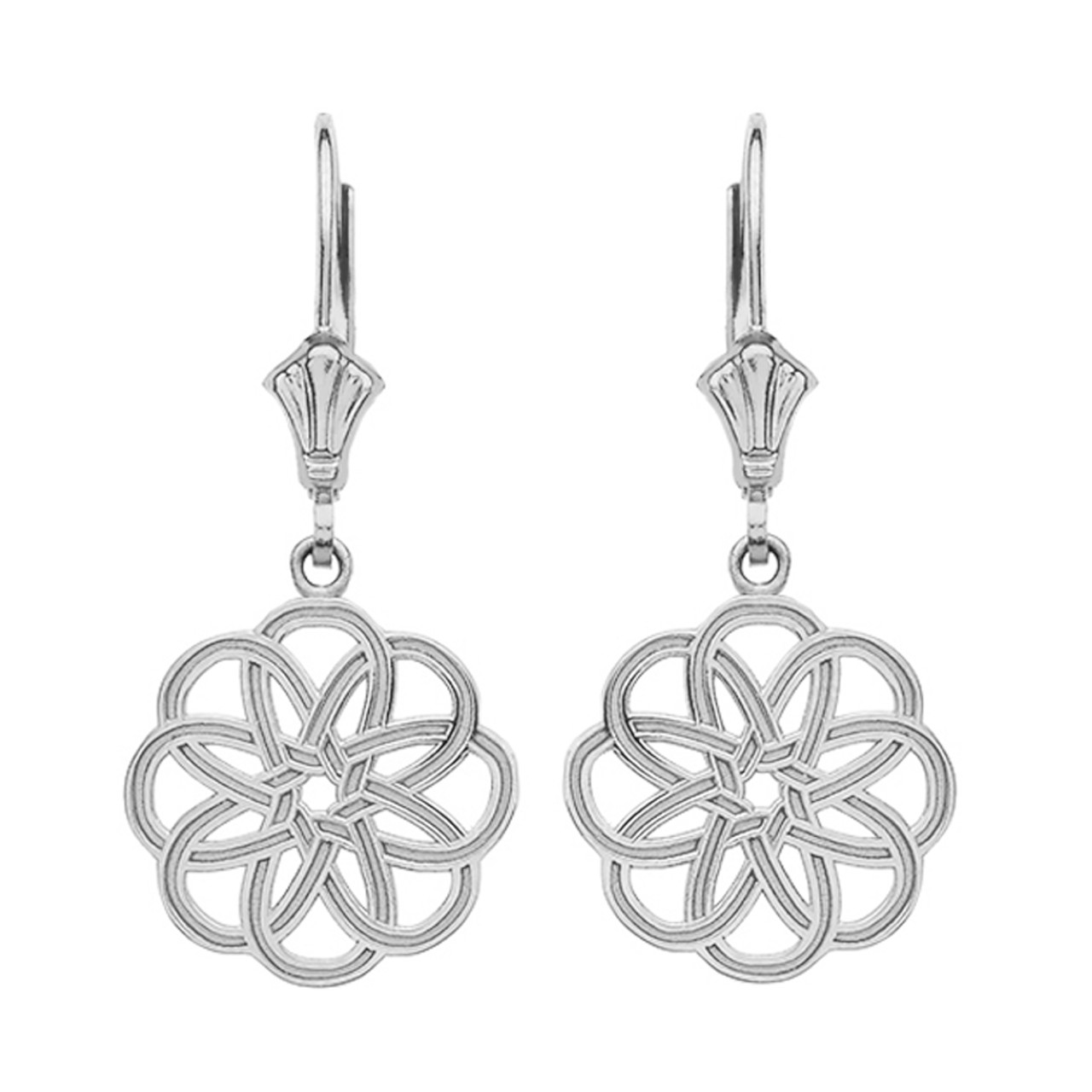 amazon jewelry dp com inch trinity silver triquetra celtic earrings knot stud sterling