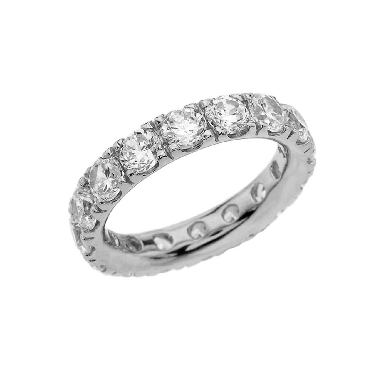 diamond white channel set eternity bands ba band product gold