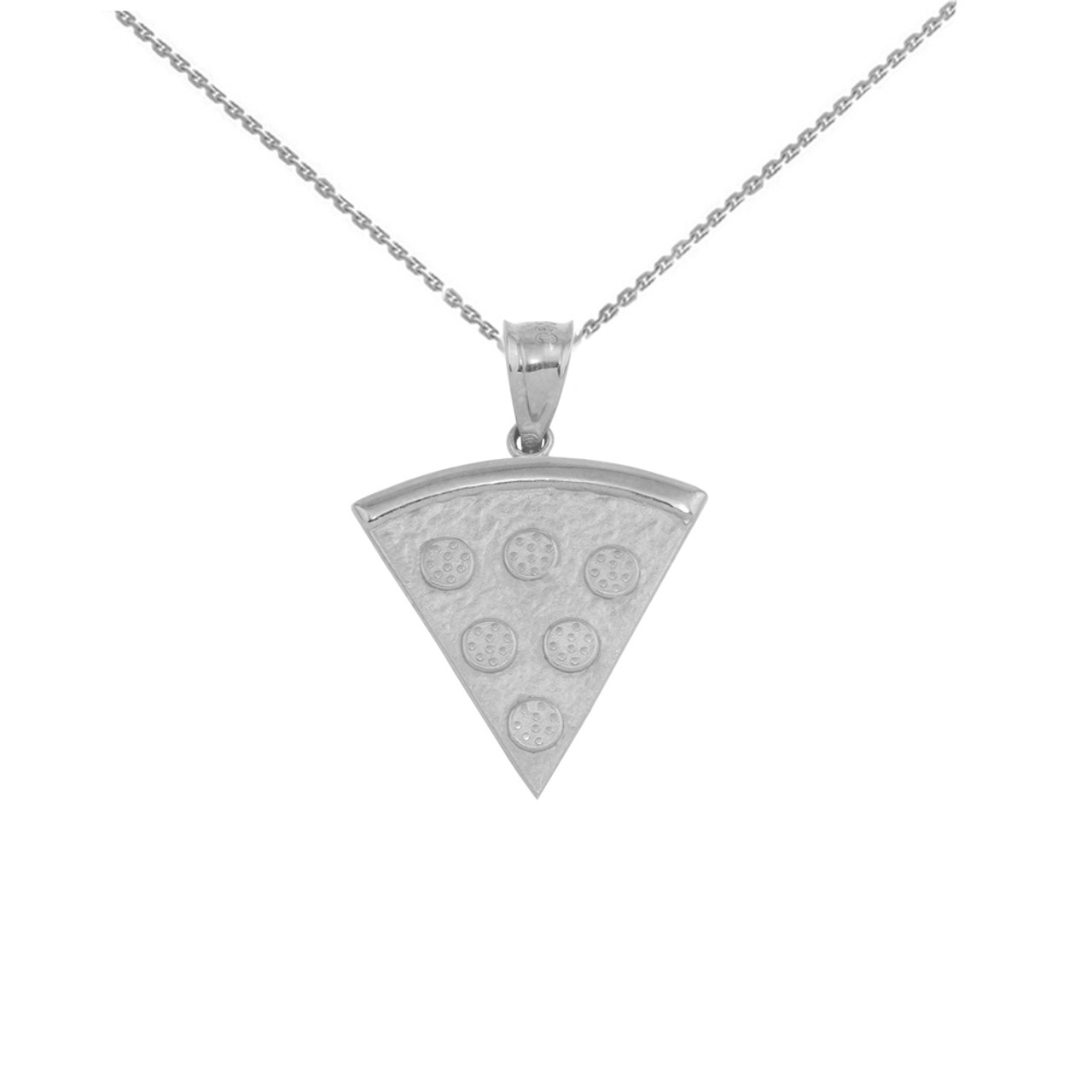 Friendship Pendant Necklace Sterling silver pizza slice friendship pendant necklace audiocablefo