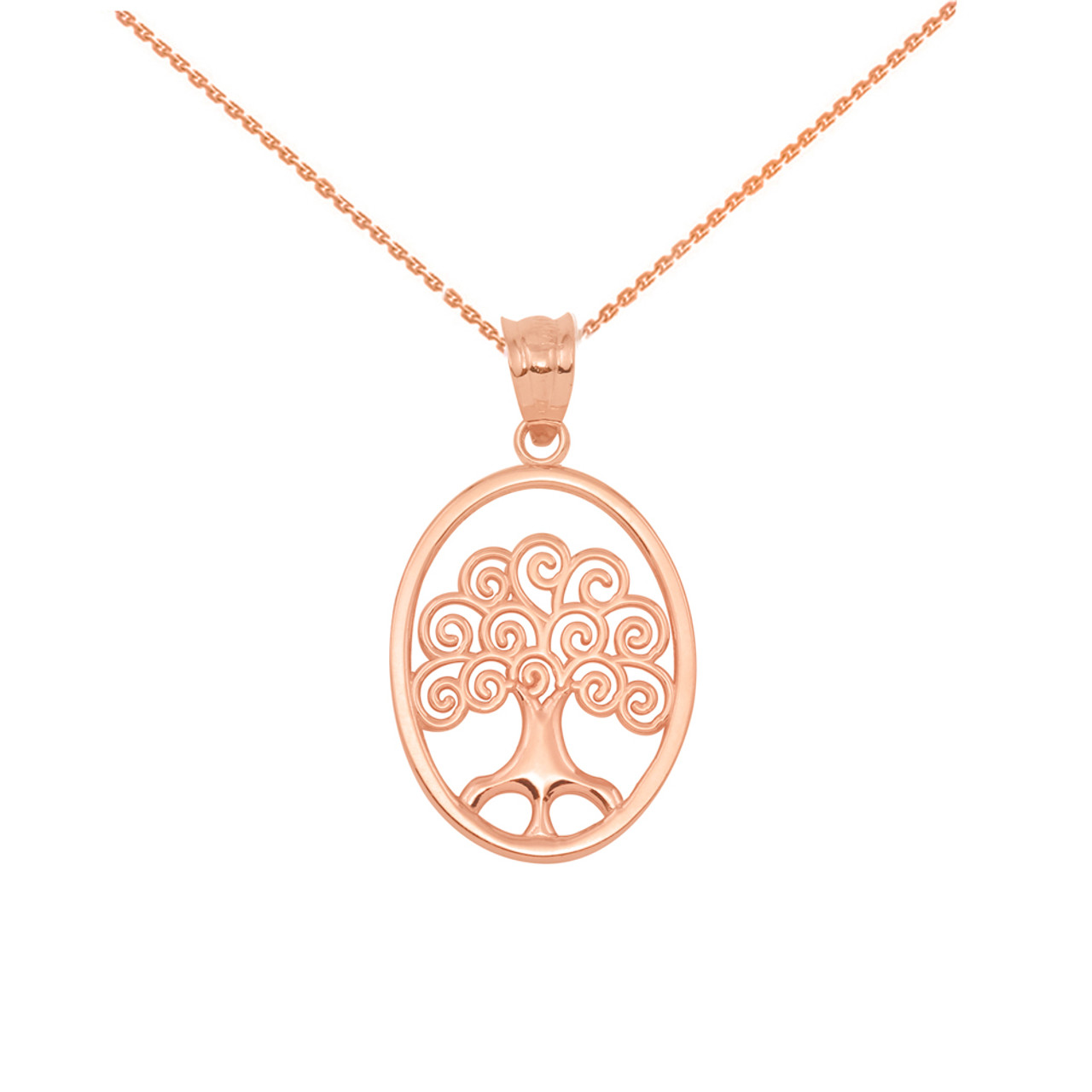 Gold tree of life filigree swirl celtic pendant necklace rose gold tree of life filigree swirl celtic pendant necklace mozeypictures Gallery