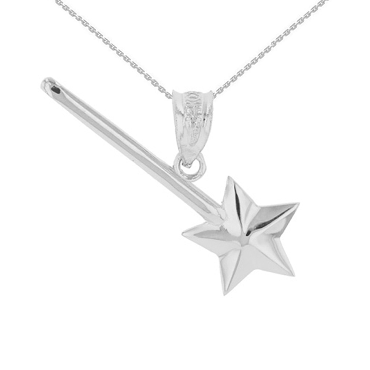 Sterling silver star magical wand pendant necklace aloadofball Images
