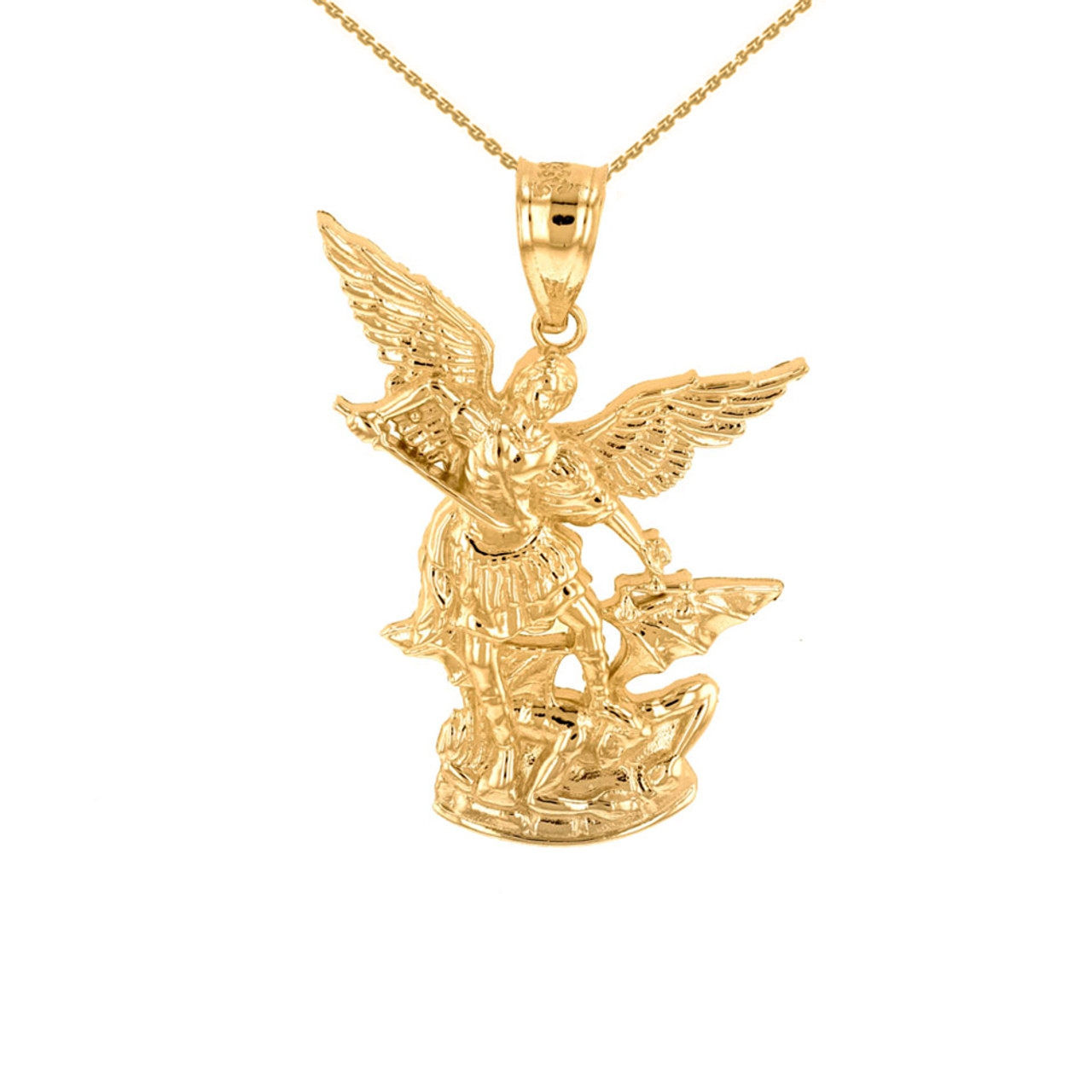 medal st michael small on chain inch necklace