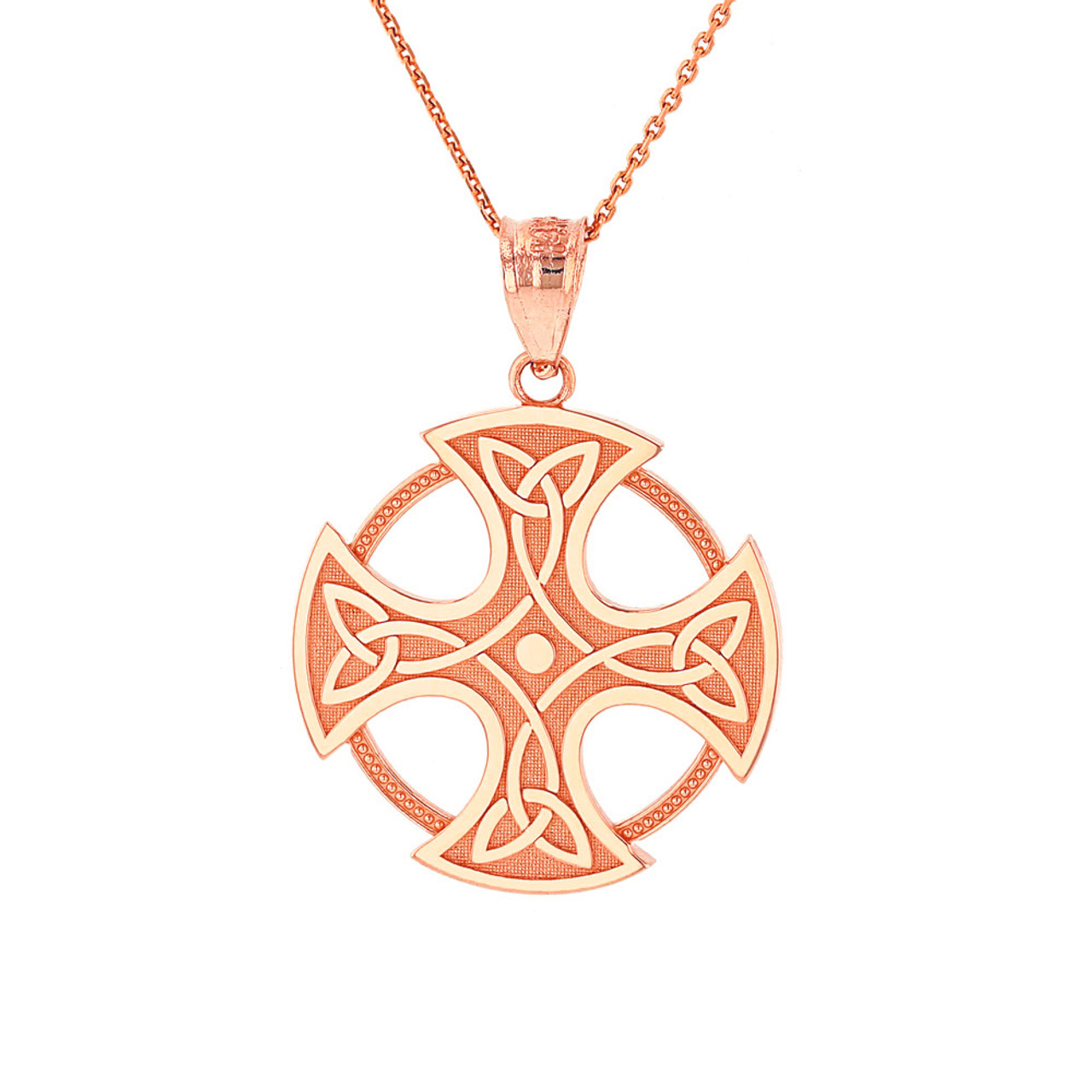 necklace irish filagree gold cross unisex pendant celtic products