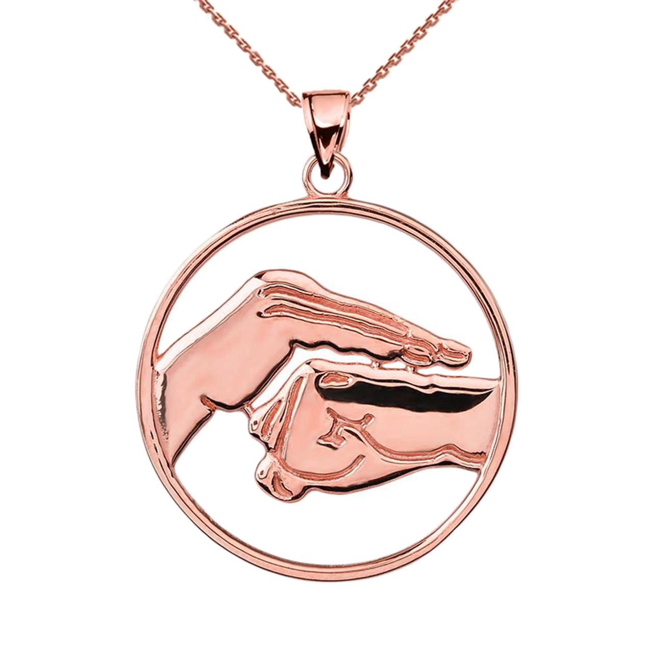 Gold bao quan martial arts hand symbol pendant rose gold bao quan martial arts hand symbol pendant buycottarizona Gallery