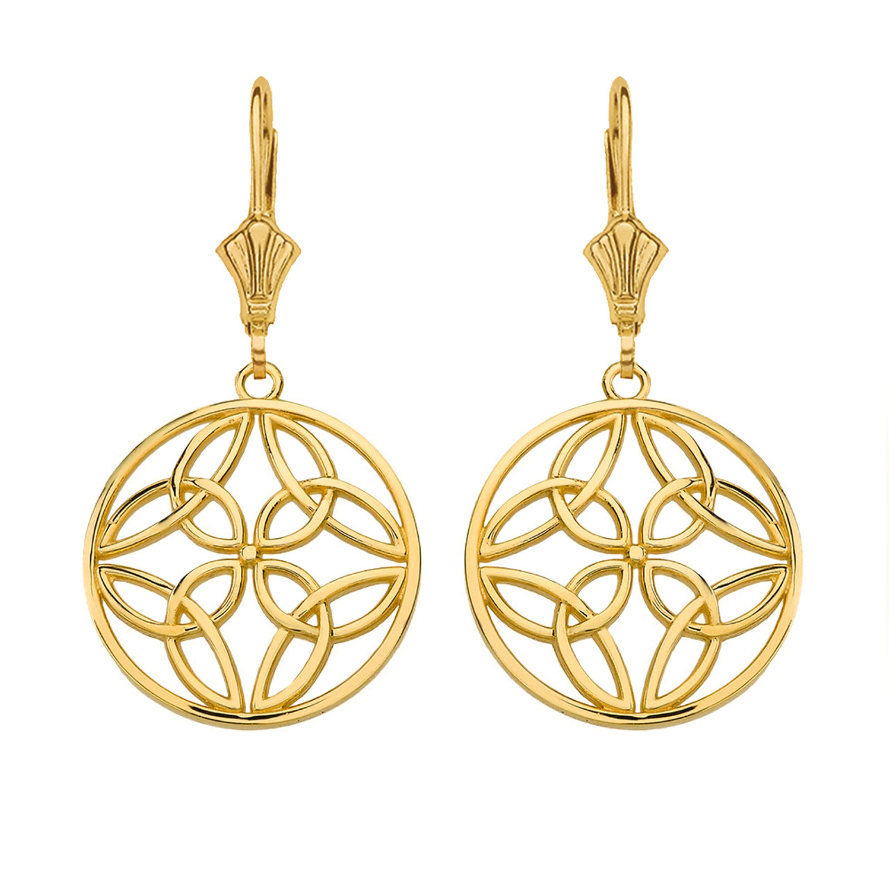 zenzii drop circular earring curved earrings circle wholesale gld