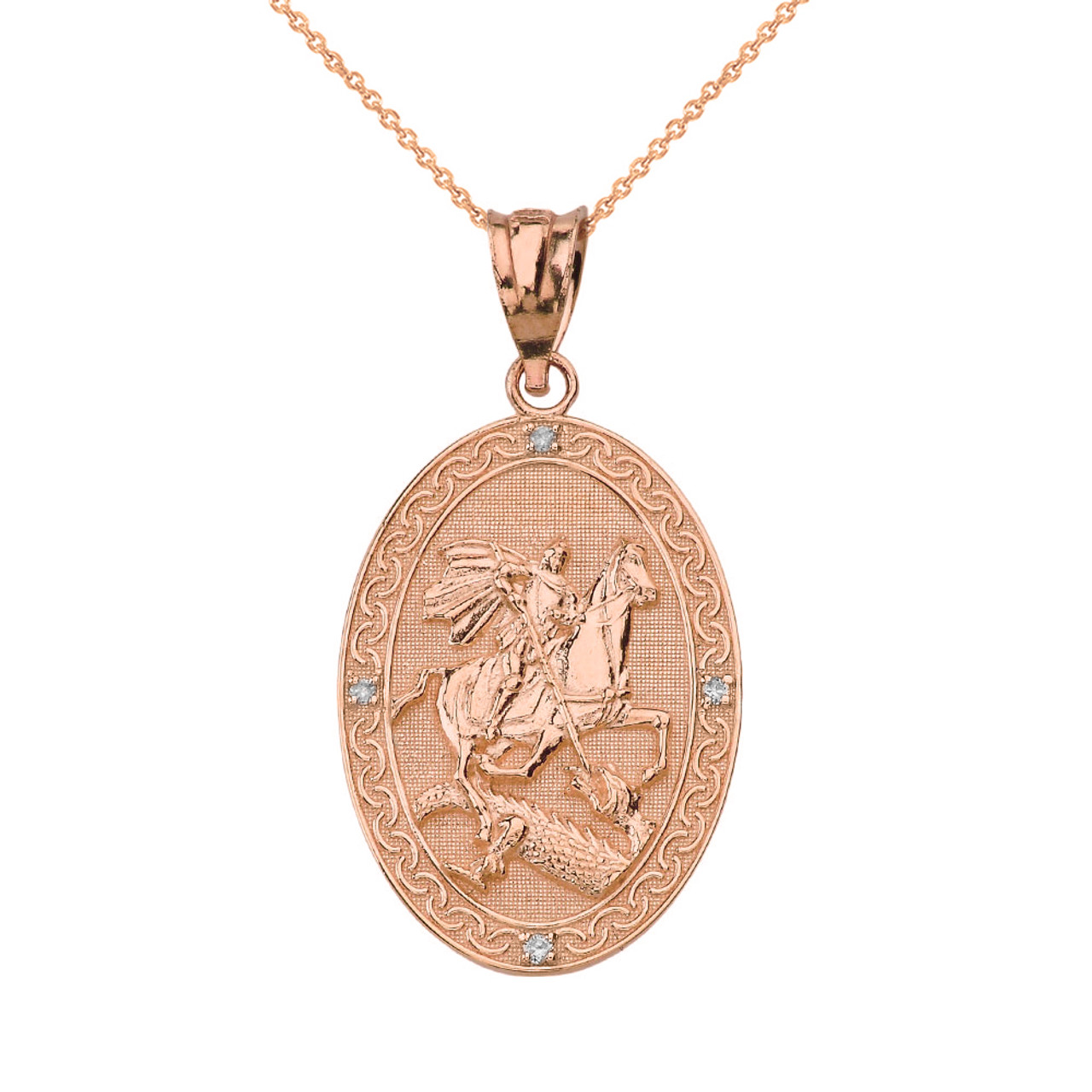 st la color georgius oracion in jorge jewelry de necklaces item dragon coin pendant george gold poderosa pendants saint plated anniyo san sanctus from killing