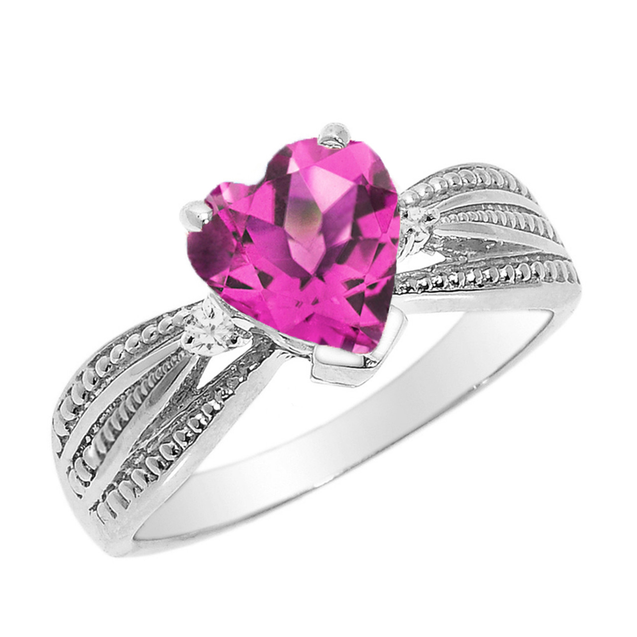 Shop Our Beautiful Diamond Proposal Rings At Fascinating: Beautiful White Gold Alexandrite (LCAL) And Diamond
