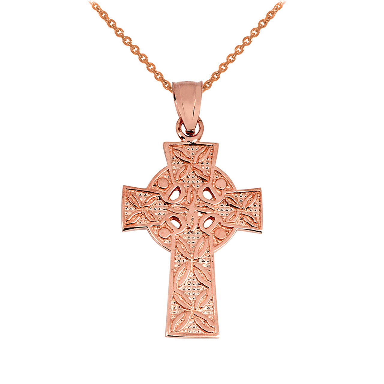 Gold irish celtic cross pendant rose gold irish celtic cross pendant aloadofball Images