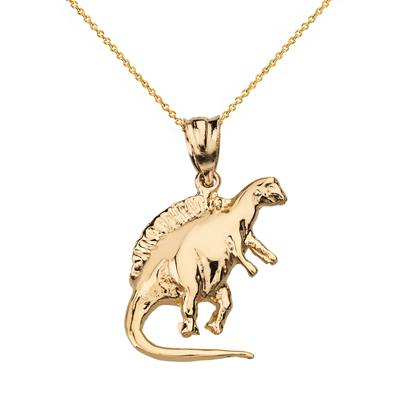 saint laurent necklace dinosaur normal pendant clothing men metallic for product lyst silver