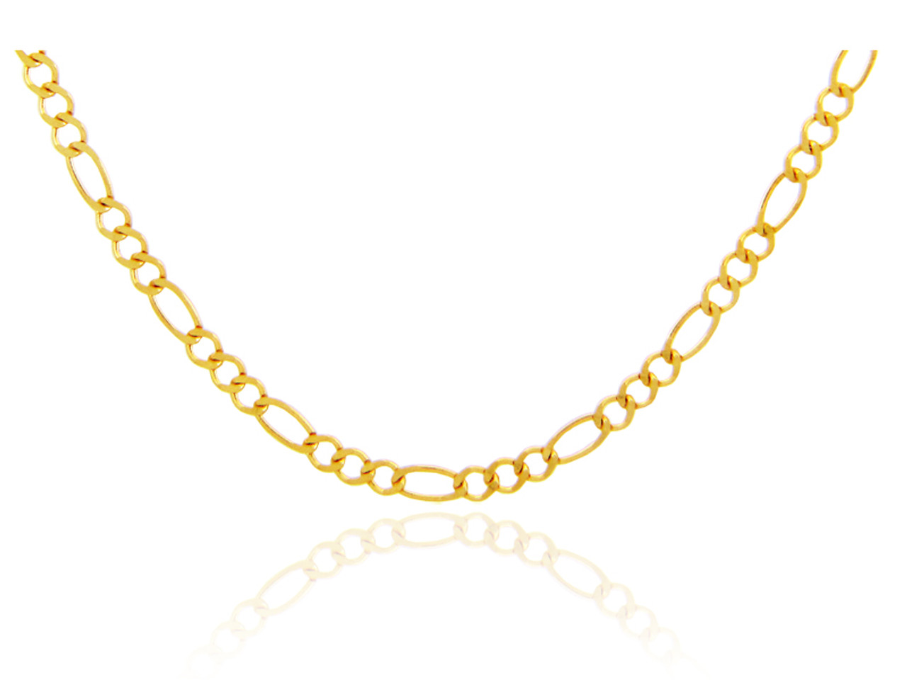 gold tone mm glod necklaces figaro and chain two pave chains
