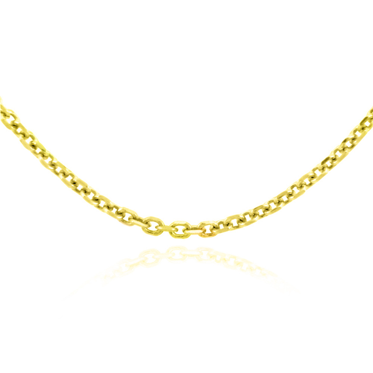 mens nck rolo necklace s inches chains real wheat solid gold mm yellow men chain