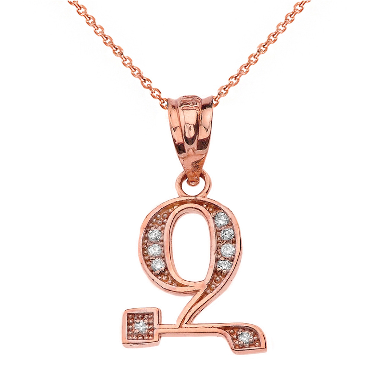 rose gold peretti necklace z pendants elsa necklaces in letters pendant a alphabet ed letter jewelry perettiletter