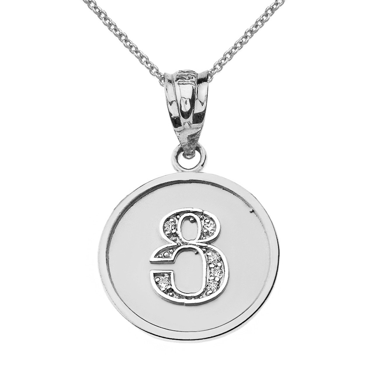 Solid white gold armenian alphabet diamond disc initial tsu solid white gold armenian alphabet diamond disc initial tsu pendant necklace aloadofball Image collections