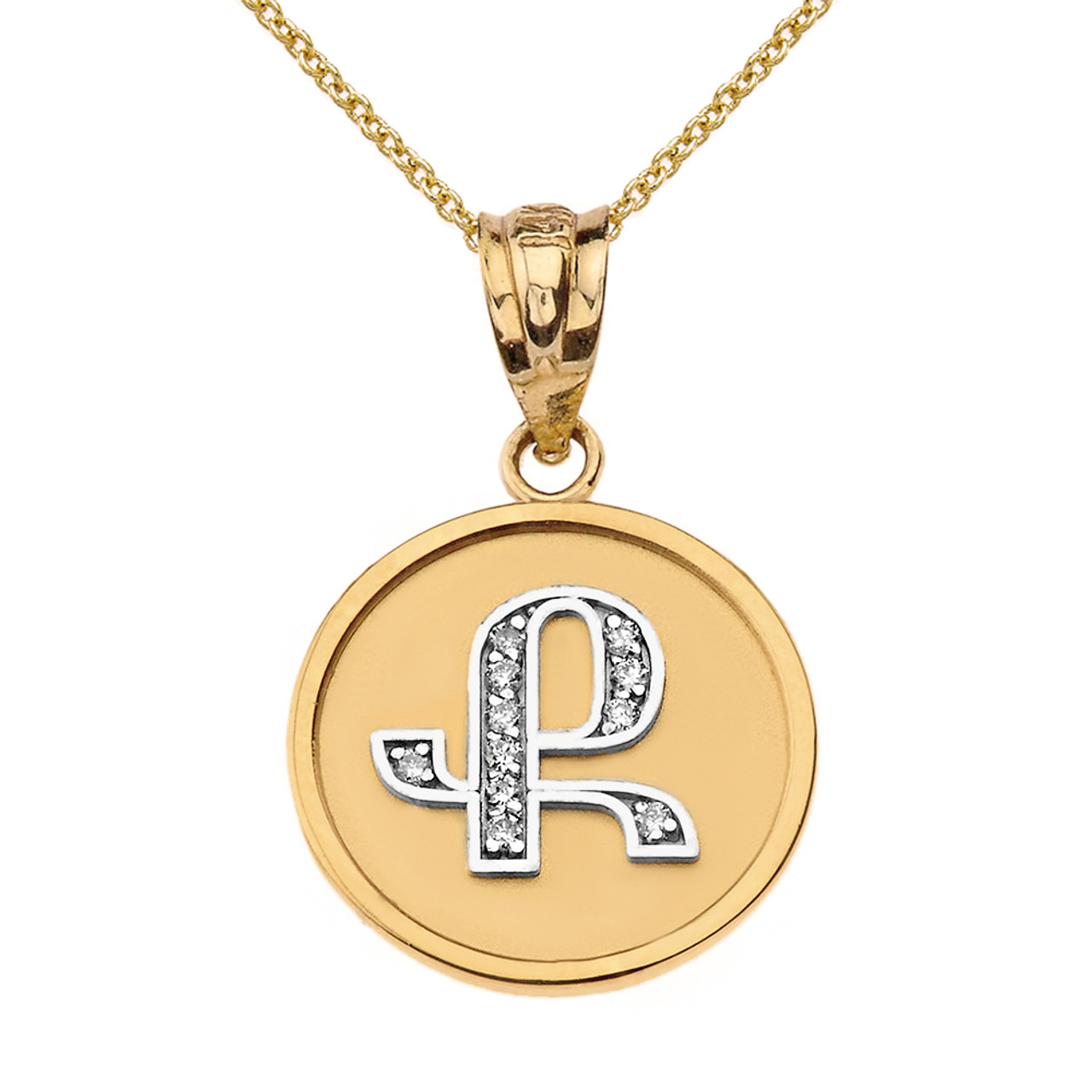 Solid two tone yellow gold armenian alphabet diamond disc initial k solid two tone yellow gold armenian alphabet diamond disc initial k pendant necklace aloadofball Gallery
