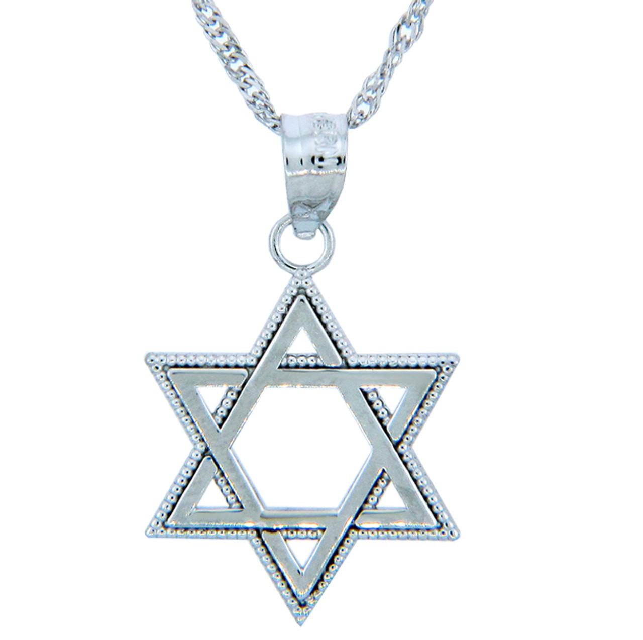 Jewish pendants silver star of david pendant aloadofball Choice Image